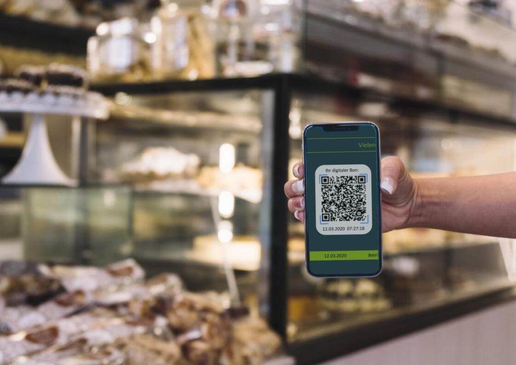 AmadeusBon auf mobilem Endgerät während des Scans