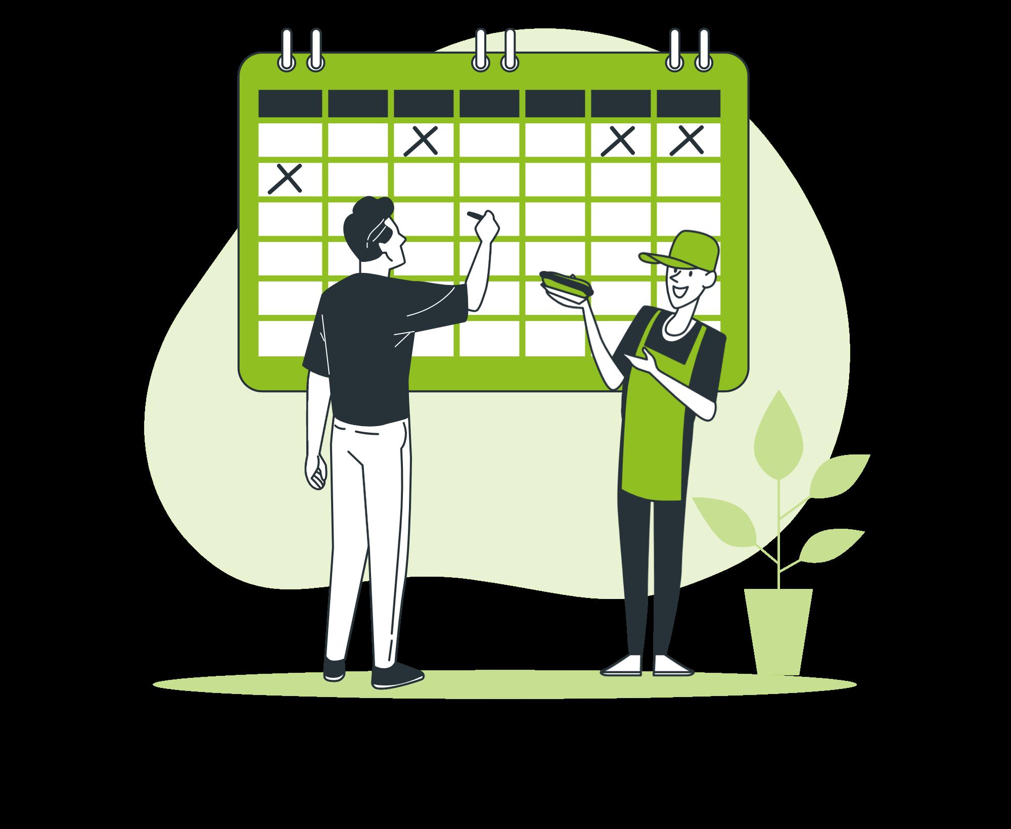 Termine im Dienstplan organisieren: Termine sperren und Tauschbörse